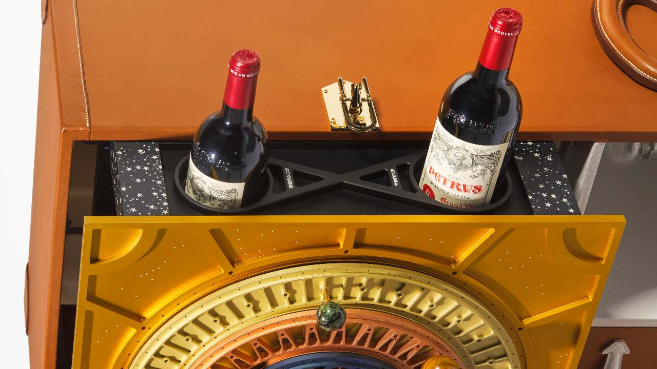 A bottle of Petrus 2000, that spent almost 440 days in space, is up for grabs in a private sale. Image credit: Christie's