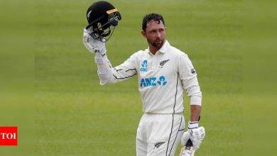1st Test: Hundred hero Conway puts New Zealand on top against England | Cricket News - Times of India