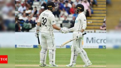 2nd Test: Conway and Young put NZ in charge against England at Edgbaston | Cricket News - Times of India