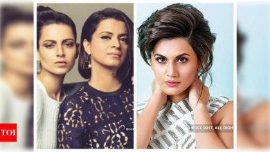 """After giving Taapsee Pannu the title of 'Sasti copy', Rangoli Chandel calls her """"creepy fan"""" of Kangana Ranaut in her latest post - Times of India"""