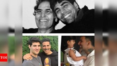 Akshay Kumar shares a picture his dad and kids on Father's Day - Times of India
