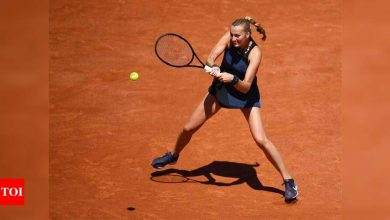 Ankle injury at press conference ends Kvitova's French Open   Tennis News - Times of India