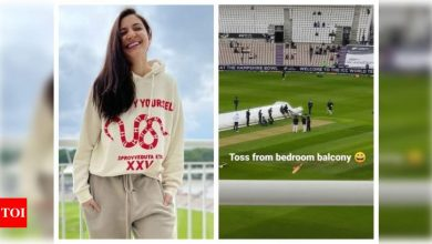 Anushka Sharma shares her view from her 'bedroom balcony' and it will make any cricket fan jealous - Times of India