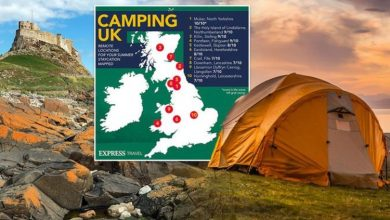 Camping and caravan UK: 'Best' remote locations for your summer staycation mapped