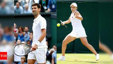 Djokovic, Barty are Wimbledon top seeds, Federer, Serena 7th | Tennis News - Times of India