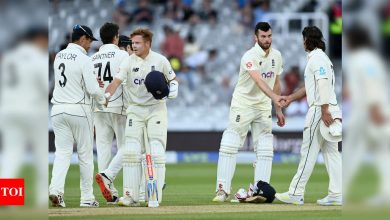 England labour to earn a draw in Lord's Test against New Zealand | Cricket News - Times of India