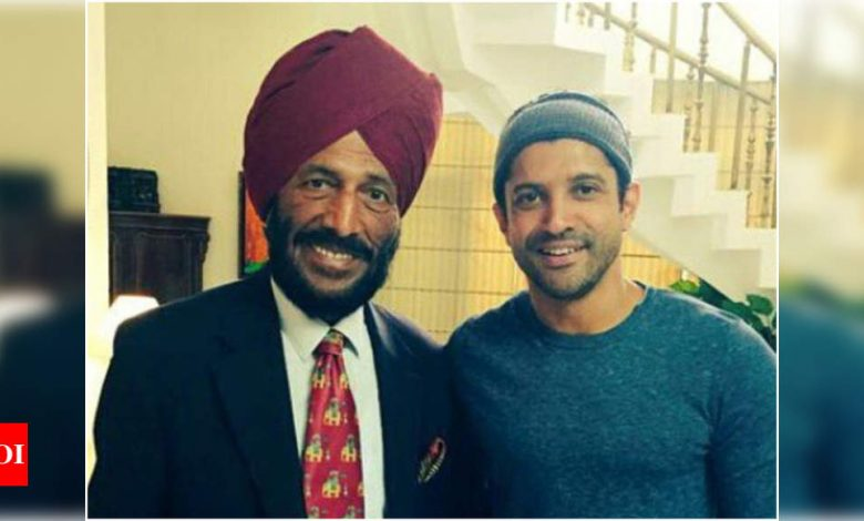 Farhan Akhtar opens up about his first meeting with Milkha Singh - Times of India