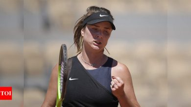 Fifth seed Elina Svitolina into French Open second round   Tennis News - Times of India