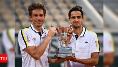 France's Nicolas Mahut and Hugues Herbert clinch another French Open doubles title   Tennis News - Times of India