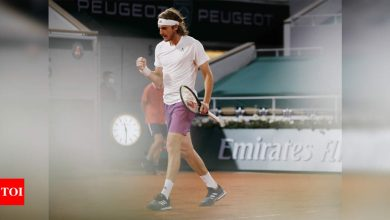 French Open 2021: Steely Stefanos Tsitsipas keeps cool to beat John Isner in four sets   Tennis News - Times of India