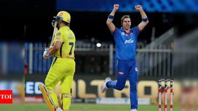In 2010, I thought MS Dhoni didn't know how to bat: Anrich Nortje | Cricket News - Times of India