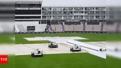 India vs New Zealand WTC Final: Another washed out day diminishes result hopes   Cricket News - Times of India
