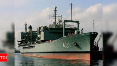 Iran's largest navy ship catches fire, sinks in Gulf of Oman - Times of India