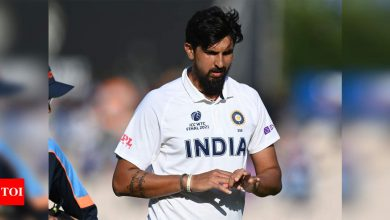 Ishant Sharma gets stitches on his right hand   Cricket News - Times of India