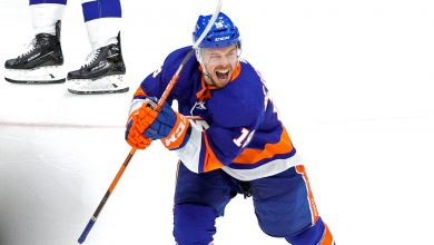 Islanders' Anthony Beauvillier snaps scoring skid at perfect time