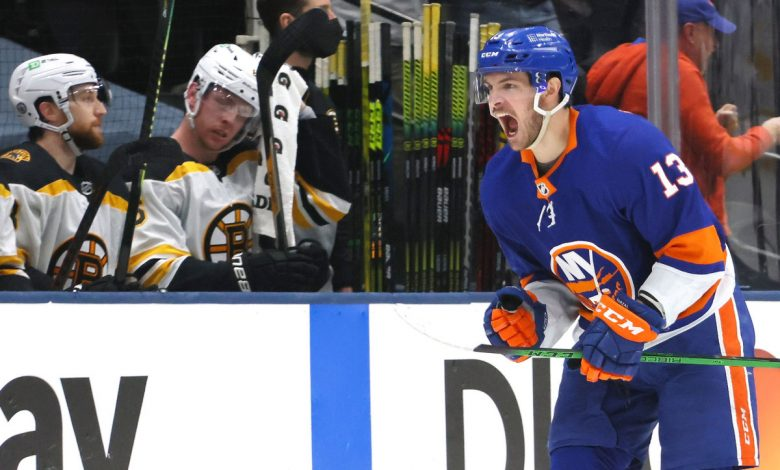 Islanders' Mathew Barzal finds good time for first goal of playoffs