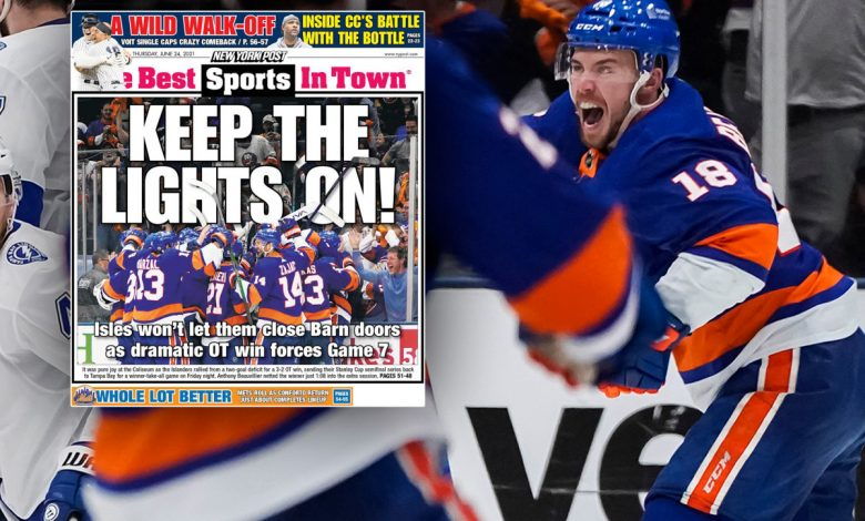 Islanders stay alive with thrilling Game 6 OT win over Lightning