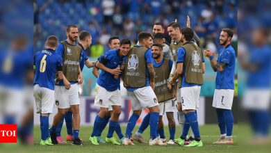 Italy ready for Euro last-16 as Wales face Denmark | Football News - Times of India
