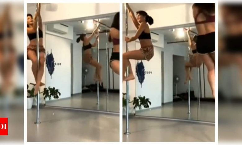 Jacqueline Fernandez will make your jaw hit the floor with her pole dance routine - watch - Times of India