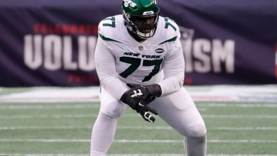 Jets' Mekhi Becton sidelined from OTAs with foot injury