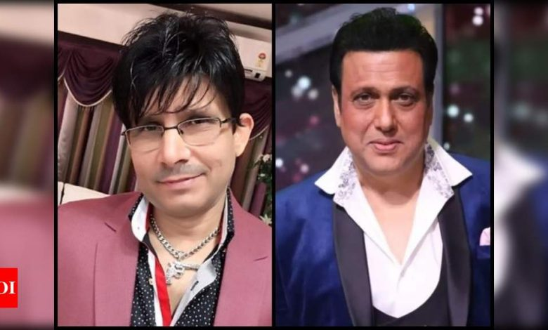 Kamaal R Khan claps back at Govinda amid controversy: Didn't tag you because I was not talking about you - Times of India