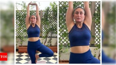 """Kareena Kapoor Khan opens up about her yoga journey; after four months postpartum says """"I'm slowly and steadily getting back"""" - Times of India"""