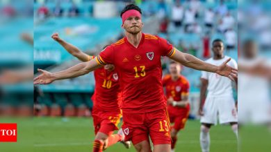 Kieffer Moore grabs point for Wales in Euro 2020 opener with Switzerland | Football News - Times of India