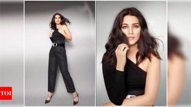 Kriti Sanon is a sight for sore eyes in a chic ensemble; have a look! - Times of India