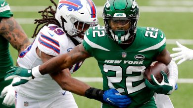 La'Mical Perine is in middle of Jets' intriguing running back battle