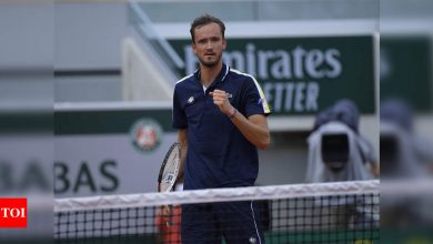 Medvedev to face Tsitsipas in French Open quarter-finals | Tennis News - Times of India