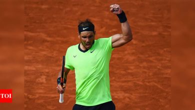 Merciless Rafael Nadal marches into French Open quarter-finals | Tennis News - Times of India