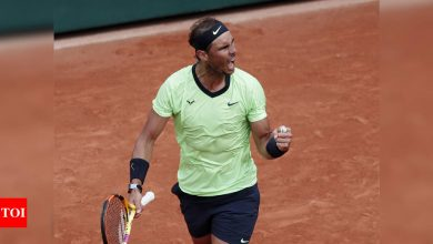 Nadal in French Open fourth round for 16th time with 103rd win   Tennis News - Times of India