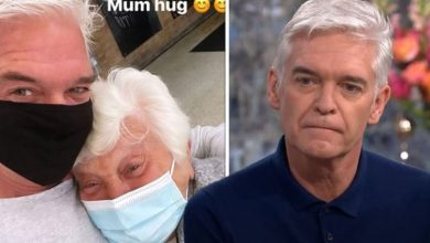 Phillip Schofield celebrates being reunited with his mum for the first time in over a year