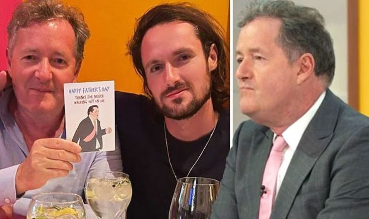 Piers Morgan's son Spencer jibes dad over GMB exit with hilarious Father's Day card
