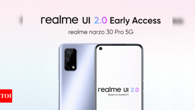 Realme begins official rollout of realme UI 2.0 with early access for some Narzo phones: How to update, precautions and more - Times of India