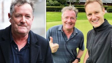 Rivals Dan Walker and Piers Morgan bump into each other after past war of words