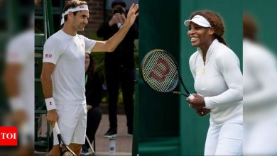 Roger Federer and Serena Williams primed for Wimbledon openers on Super Tuesday   Tennis News - Times of India