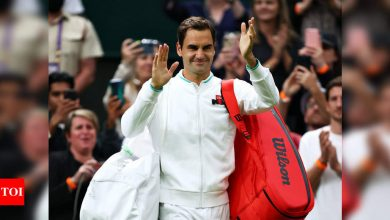 Roger Federer survives Wimbledon scare to reach second round   Tennis News - Times of India