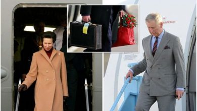 Royal protocol sees Princess Anne and Prince Charles travel with 'secret' luggage tags