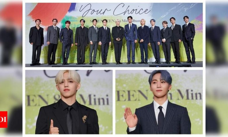 S.Coups and Seungkwan on SEVENTEEN's goal for 'Your Choice' mini album: We want to top the Billboard charts - Times of India
