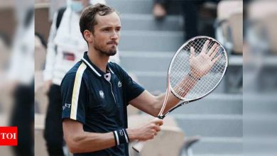 Second seed Medvedev races into Roland Garros last 16 for the first time   Tennis News - Times of India