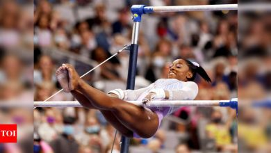 Simone Biles takes lead at US Championships with eye on seventh title | More sports News - Times of India