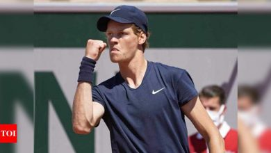 Sinner saves match point en route to French Open second round | Tennis News - Times of India