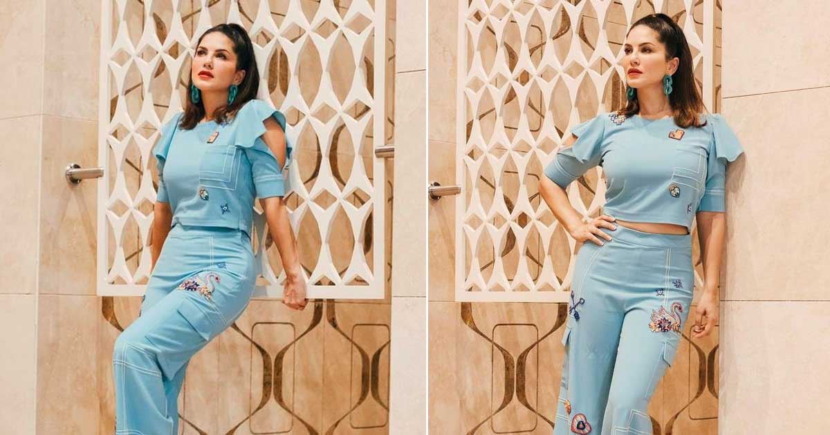 Sunny Leone's 'All Blue' Attire Coupled With A Sensuous Stare Is 'Red Hot' - Read On