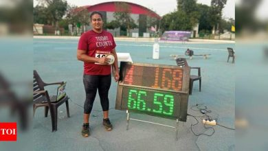 Tokyo-bound discus thrower Kamalpreet improves her own national record with 66.59m throw | More sports News - Times of India