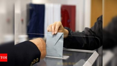 Turnout low as France votes in new Macron, Le Pen test - Times of India