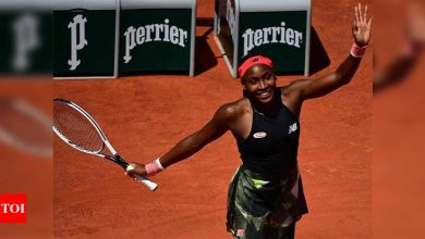 US teenager Coco Gauff reaches first Grand Slam quarter-final at French Open   Tennis News - Times of India