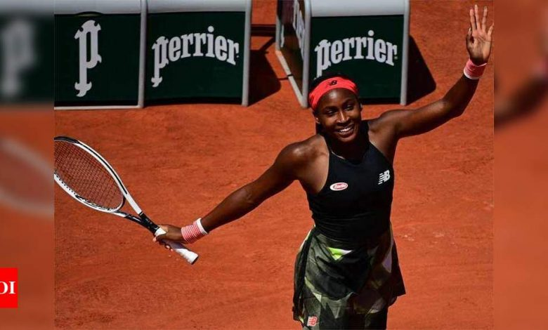 US teenager Coco Gauff reaches first Grand Slam quarter-final at French Open | Tennis News - Times of India