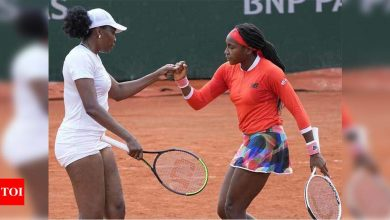 Venus and Gauff bow out in first round of French Open doubles   Tennis News - Times of India