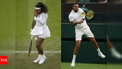 Wimbledon courts under fire after Serena exit and Kyrgios says 'it's a joke'   Tennis News - Times of India